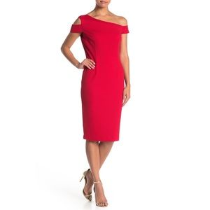 Trina Turk Enchantment Off Shoulder Sheath Dress